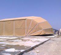 Askeri çadırların kullanım alanı; Askeri Barınak Alanları