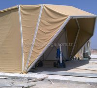 Askeri çadırların kullanım alanı; Gıda Dağıtım Alanları