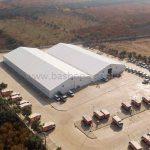 İzmir'de Çelik Konstrüksiyonlu Çadırlar Kuruldu